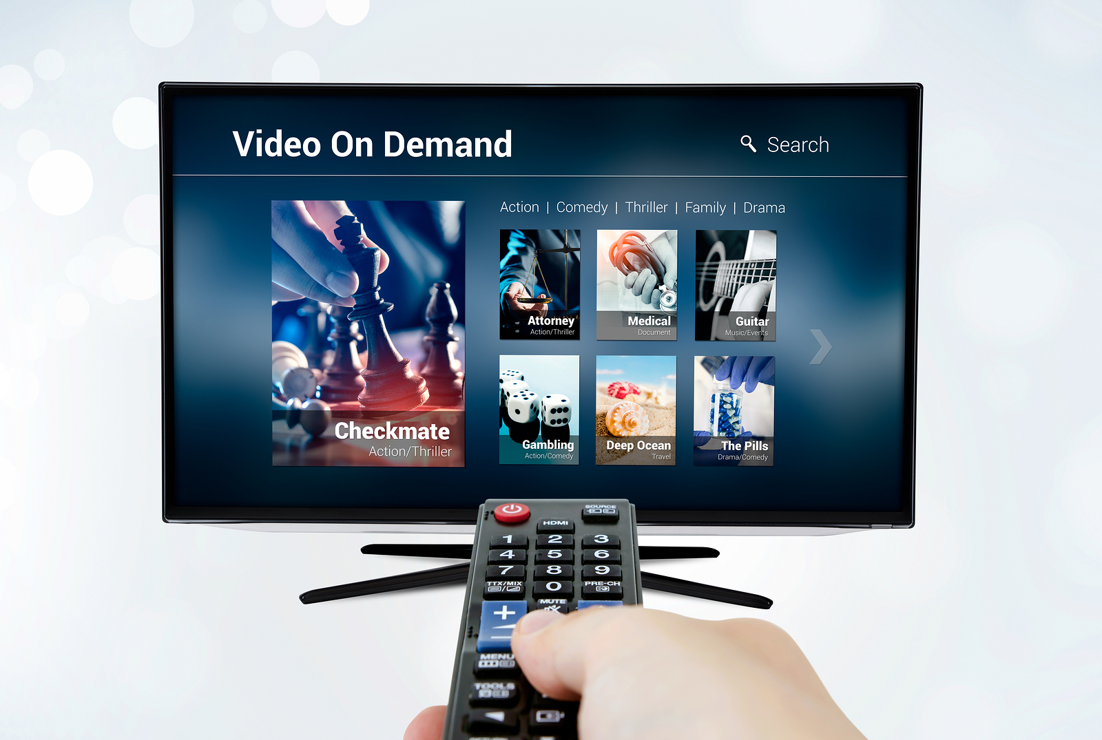 Video On Demand Vod Application Or Service On Smart Tv. Televisi