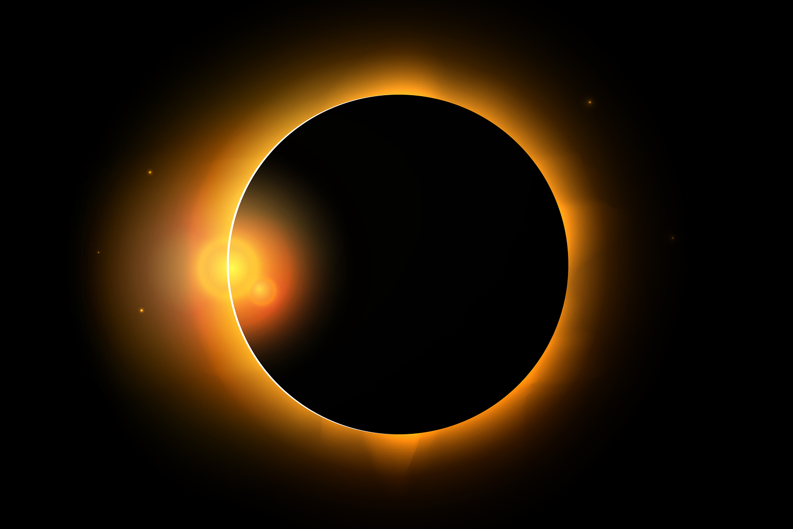 Full Solar Eclipse Phenomenon Illustration