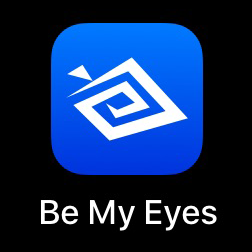 Be My Eyes app.