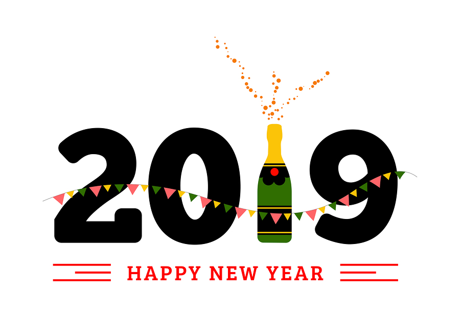 Congratulations to the new year, 2019!