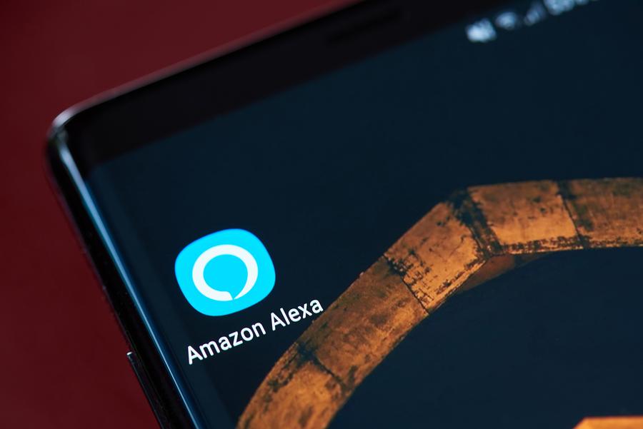 Amazon Alexa App Icon On Smartphone