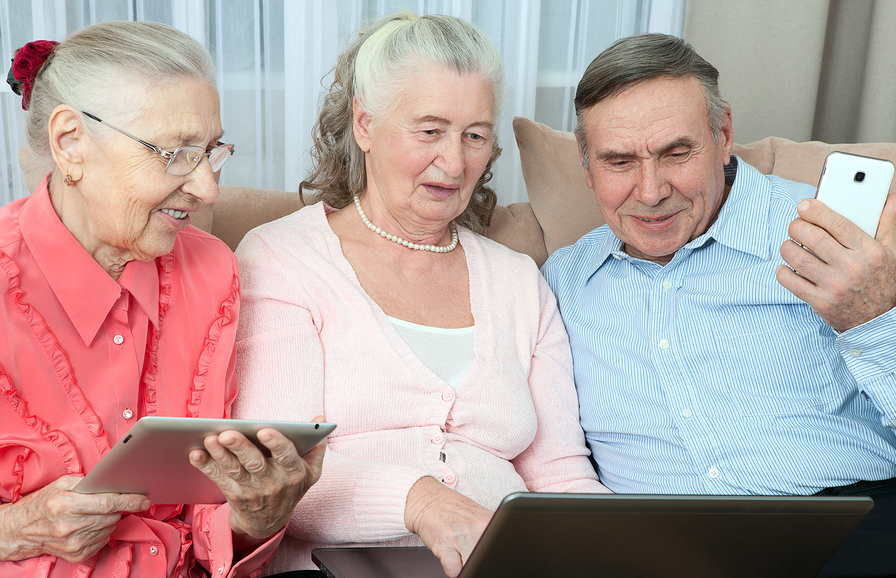 3 Seniors with Tech