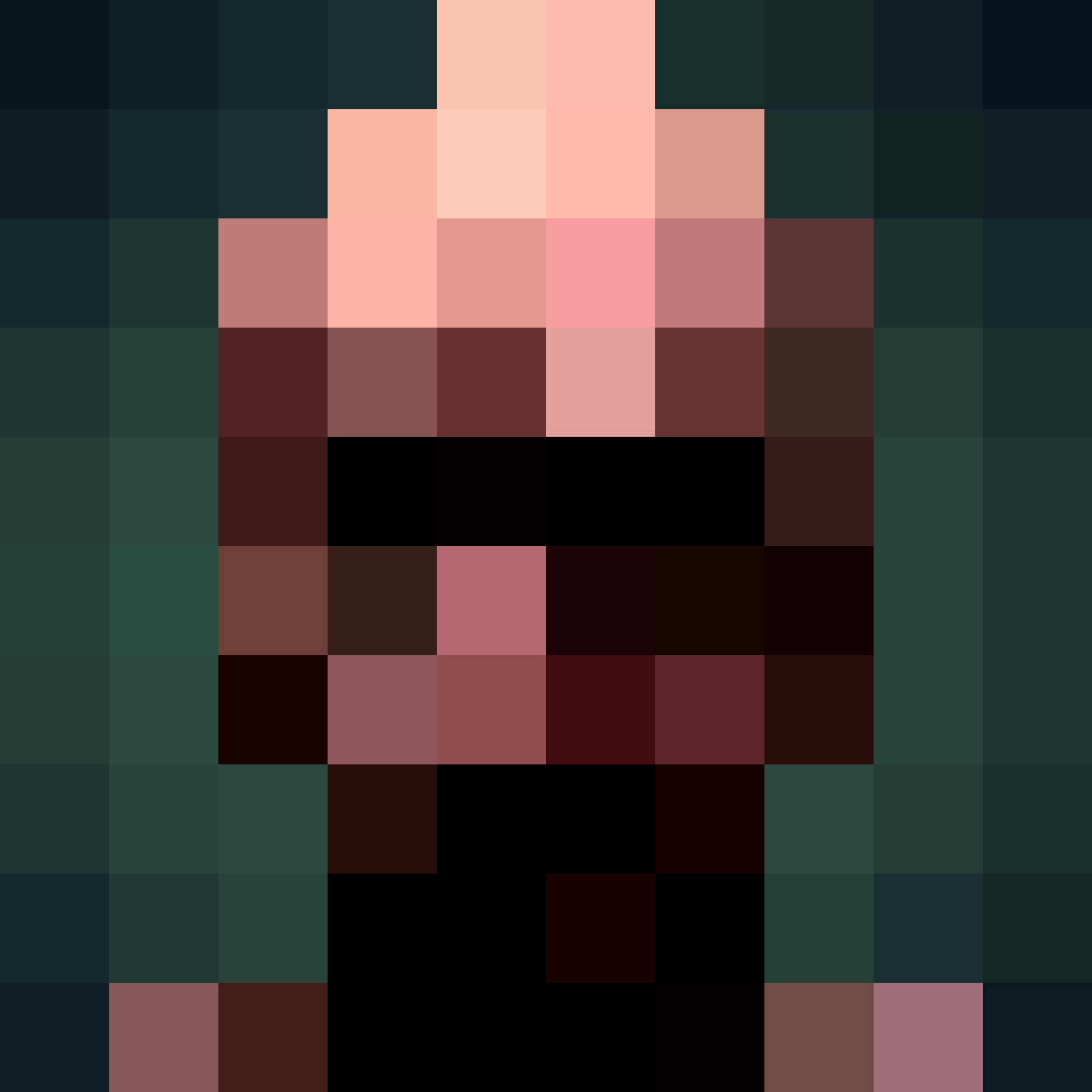 Vector illustration of Adult anonymous pixel face