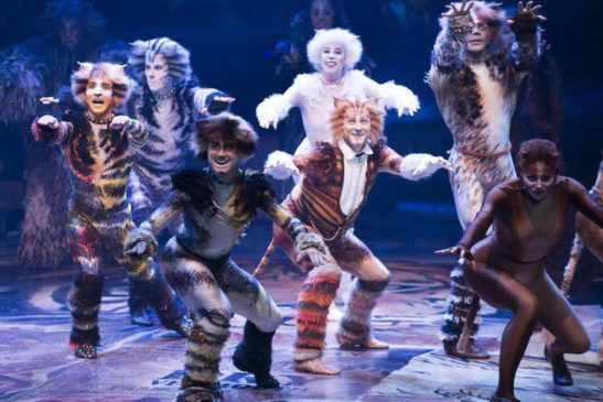 Image of Cats Production on Broadway.
