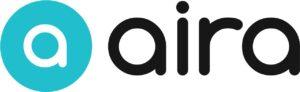 image shows logo for Aira app